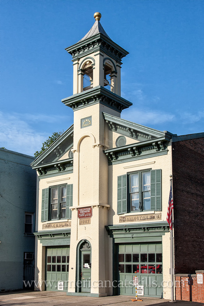 The Volunteer Fireman's Hall and Museum is located within the historic Stockade District of Kingston, New York.