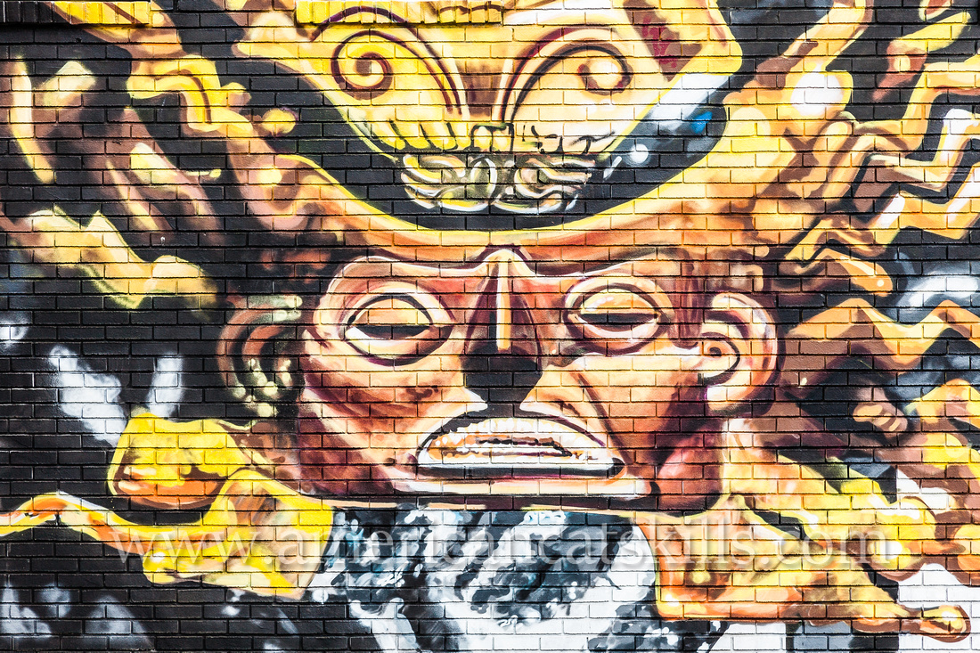 The large scale, incredibly vibrant mural titled Anos de Soledad was created by artists Mata Ruda, Nanook and Lunar New Year in 2015 as part of the 6th annual O+ festival in Kingston.