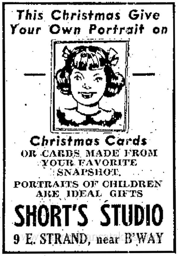 Lorenzo Short, succeeded by his daughter Belle Short, operated one of the longest running photographic studios in the history of Kingston, New York.