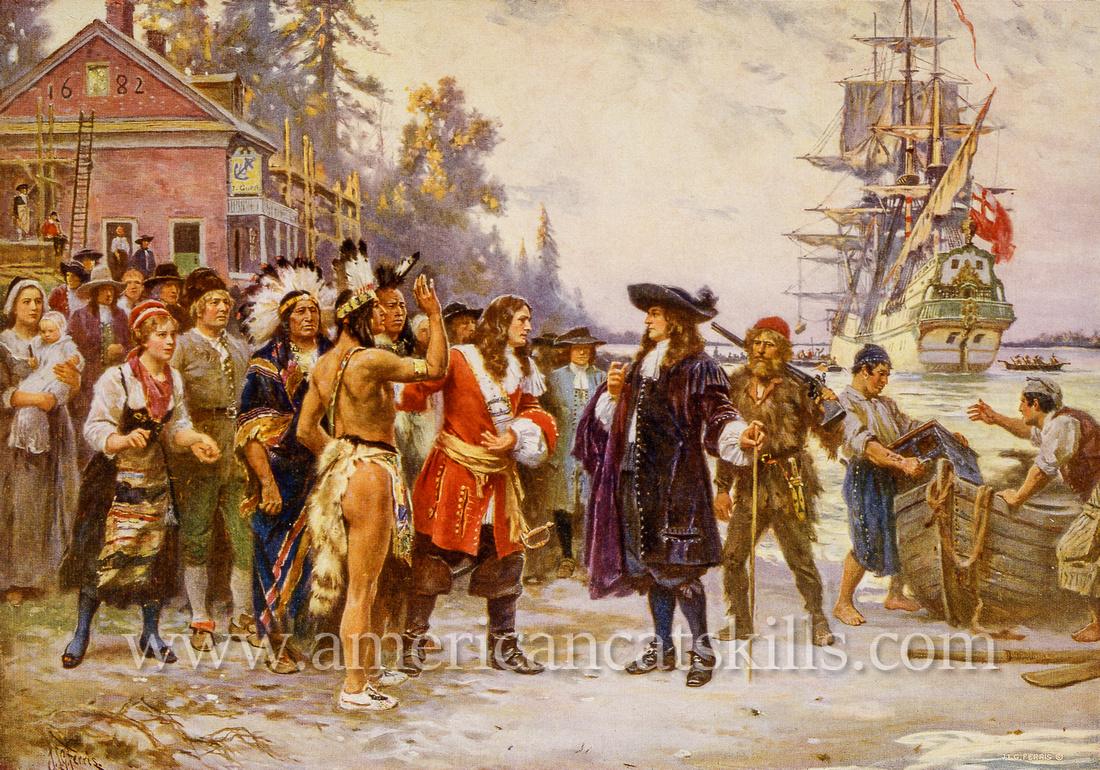 The landing of William Penn.