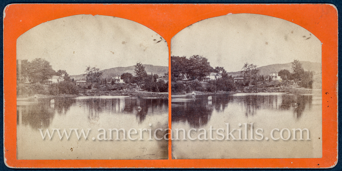 Stereoview by photographer W. F. Spencer of Stamford, New York.