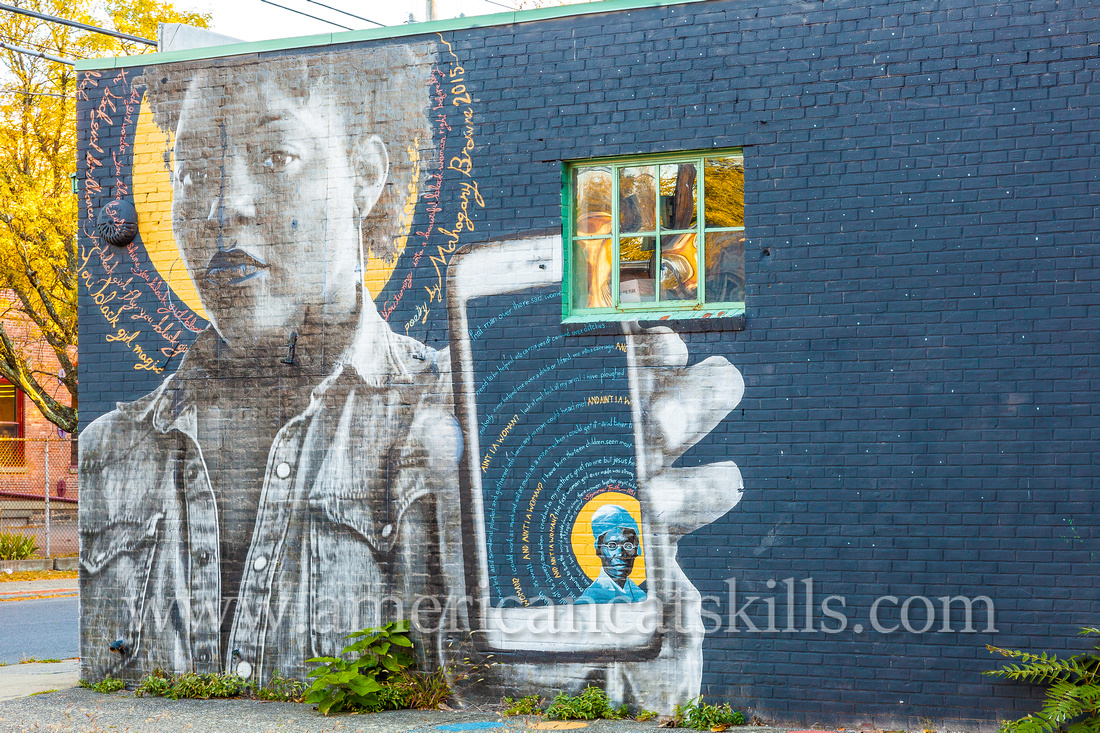 """The midtown mural titled """"Ain't I a Woman?"""", in honor of Sojourner Truth"""", was created during the 2015 and 6th annual O+ Festival by artists Jess X. Chen and Chip Thomas."""