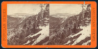"Vintage E. & H. T. Anthony & Co. stereoview # 266 titled ""View from Sunset Rock, Haines Falls and Hunter Mountain"" from the ""Winter in the Catskills"" series."