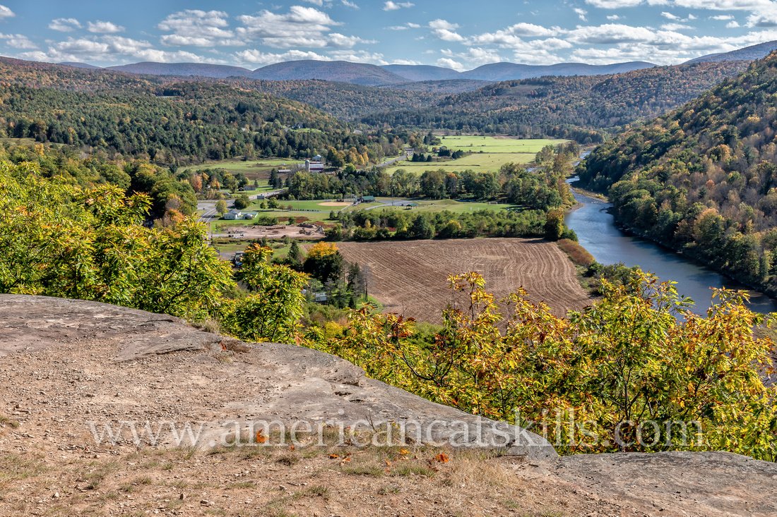 Pratt Rock Park, located just south of the village of Prattsville in Greene County, New York, is known for its Zadock Pratt carvings and its beautiful views of the Schoharie Valley.