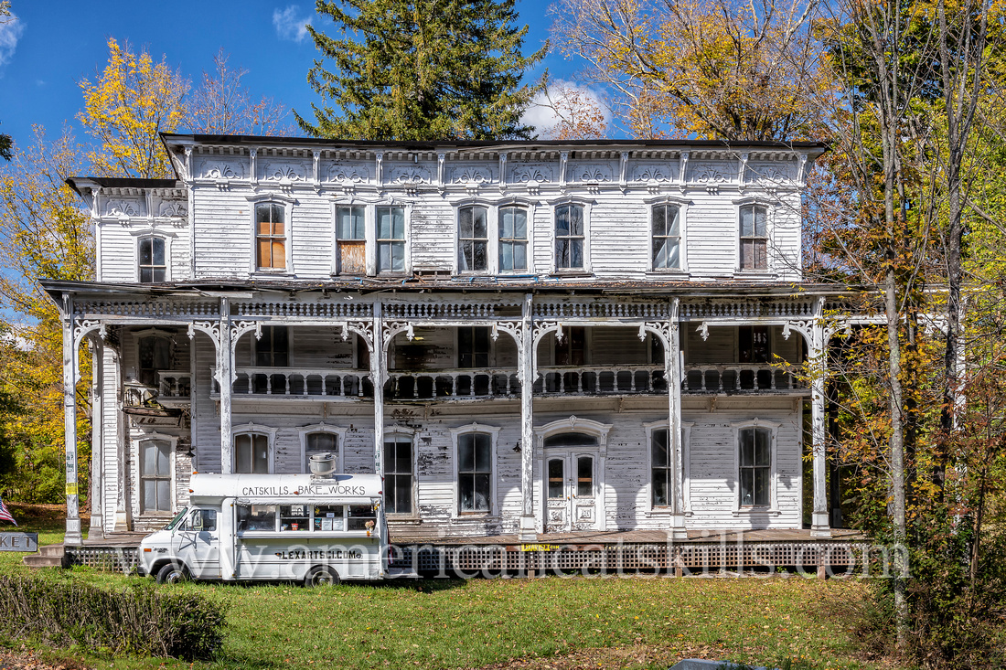 The long-neglected Lexington House is located on the Schoharie Creek in the small hamlet of Lexington in Greene County, New York.