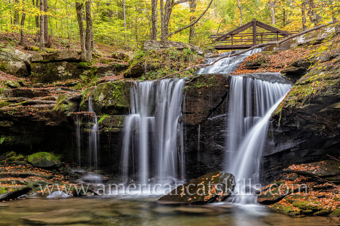 Old Mill Falls, located on the Plattekill Creek within the 280-acre Platte Clove Preserve, is a charming 15-foot waterfall located just upstream from the top of Plattekill Falls.