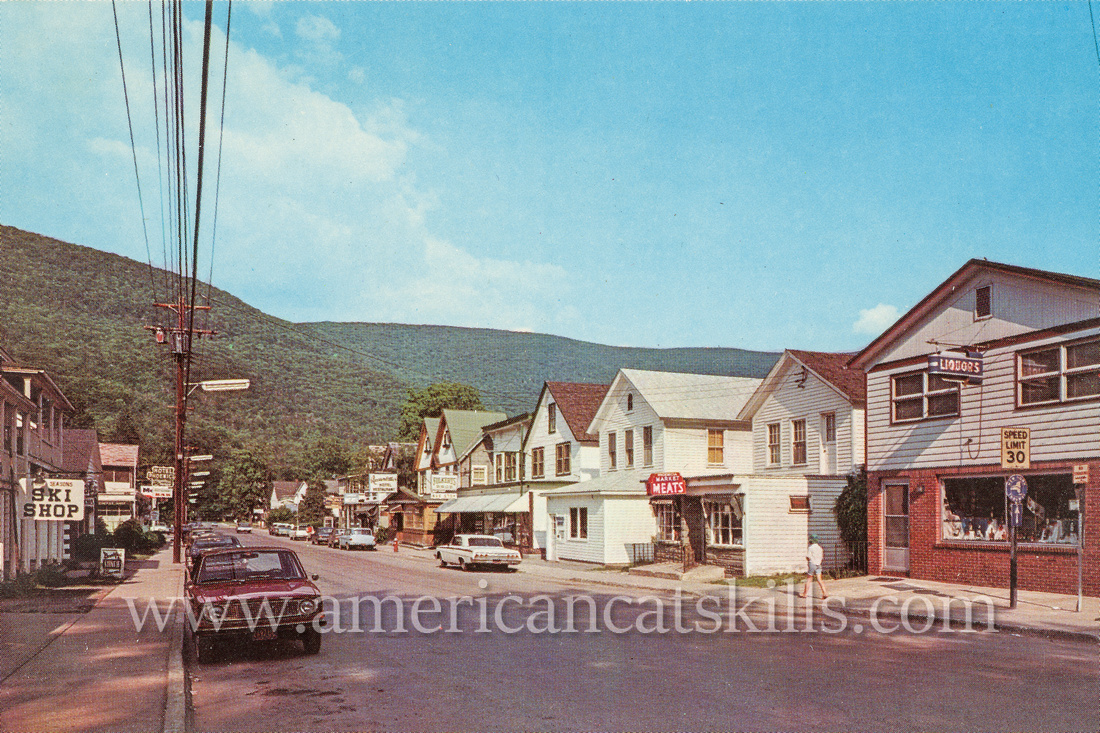 Vintage photograph by Bob Wyer of the hamlet of Phoenicia in Ulster County, New York.