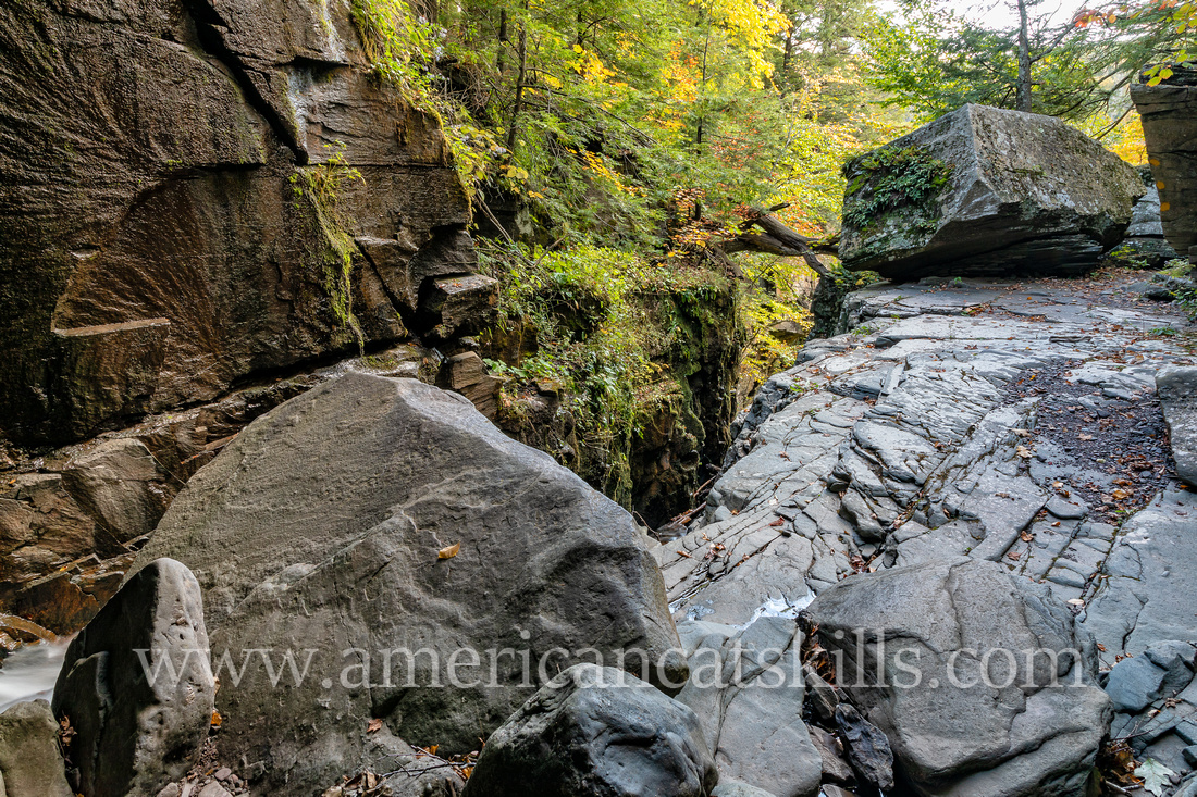 Hell Hole Falls is a scenic waterfall located within the dramatic Plattekill Clove in the northern Catskills.