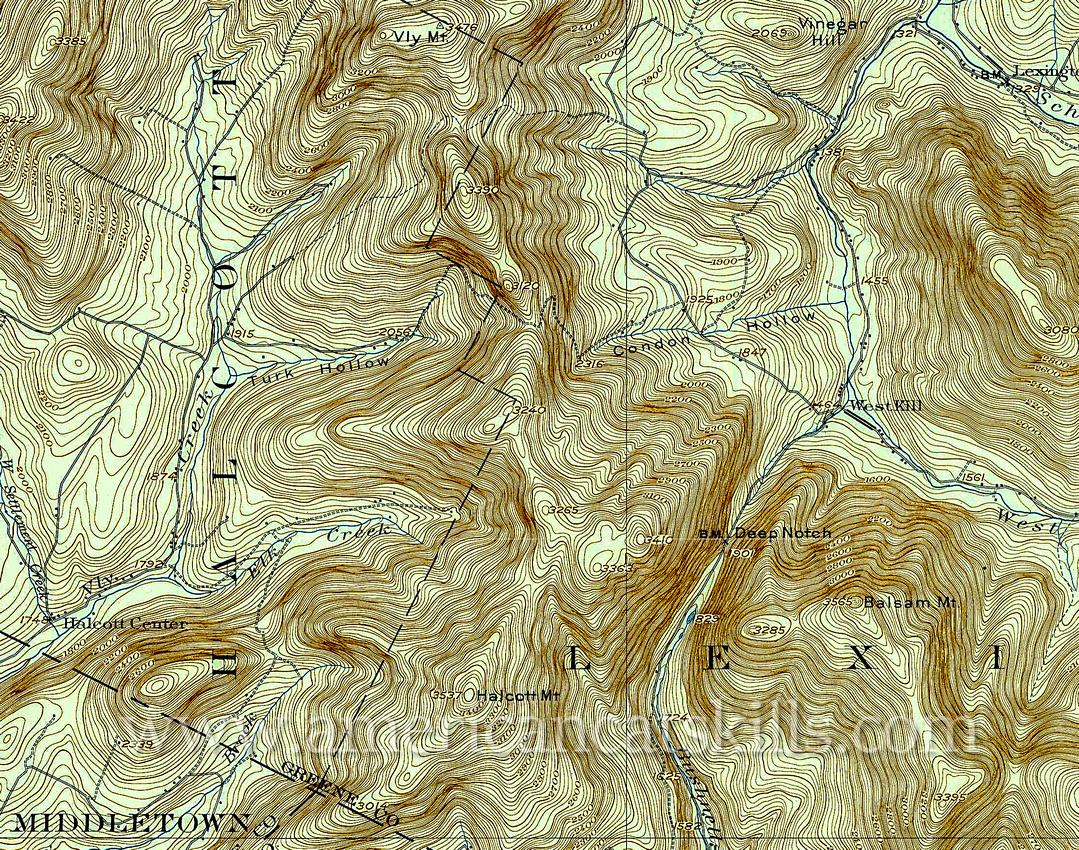 Phoenicia, NY, 1:62,500 quad, 1900, USGS