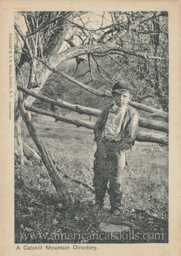 """Vintage postcard titled """"A Catskill Mountain Directory"""" that was published by T. H. Sachs of Catskill, New York."""