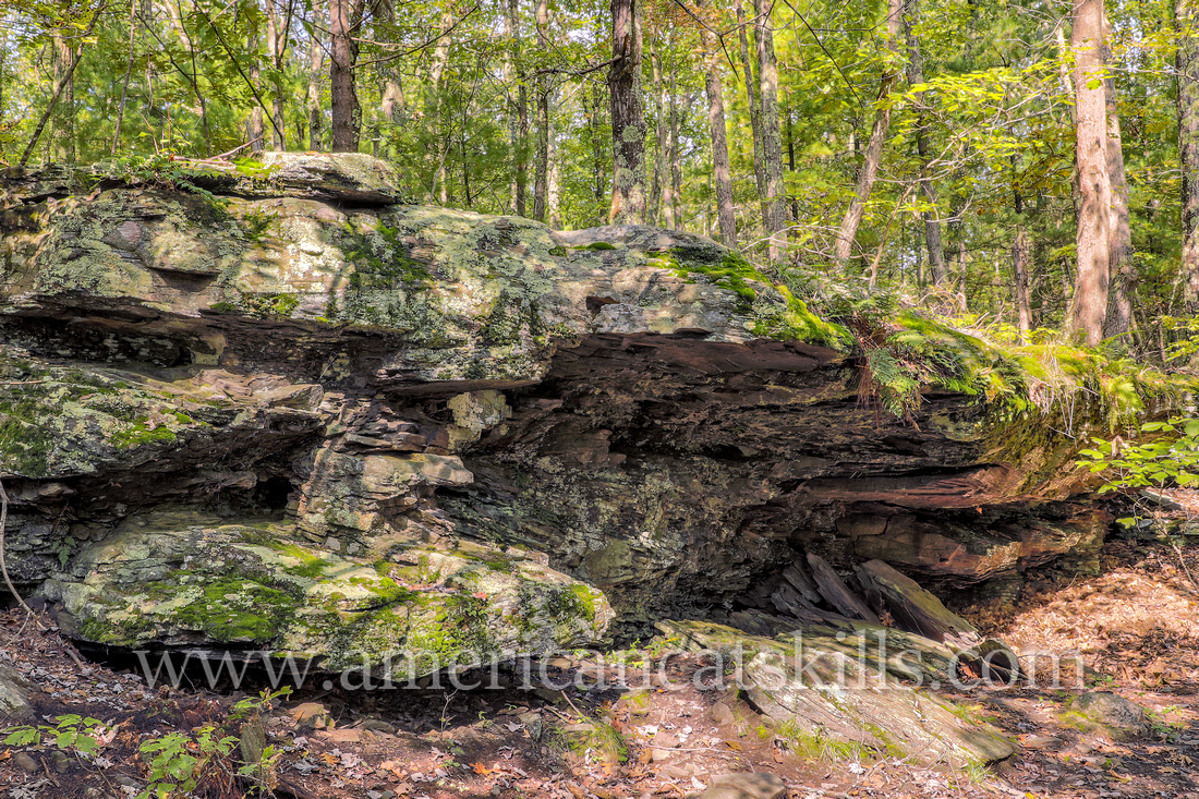 The Battle of Minisink Ford took place during the American Revolution on July 22, 1779. Hospital Rock is where the American wounded were being cared for, and eventually killed after British forces bro