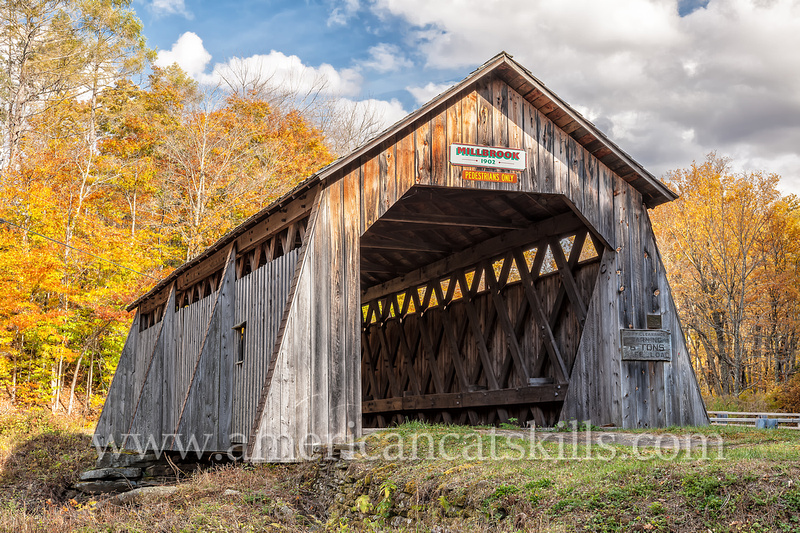 The Millbrook Covered bridge, formerly known as the Grant Mills Bridge, was originally constructed in 1902 by Edgar Marks, his son Orrin Marks and Wesley Alton.