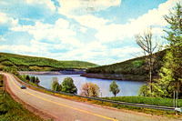 "Vintage postcard photograph title ""Cannonsville Reservoir"" by famed Catskills photographer Bob Wyer of Delhi, New York."