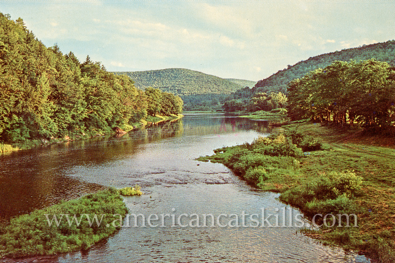 """Vintage postcard titled """"Greetings from Greenville N. Y."""" by famed Catskill photographer Bob Wyer of Delhi, New York."""
