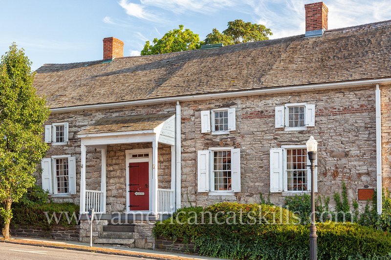 The historic mid-17th century Hoffman House Tavern is located in the Stockade District of Kingston, New York.