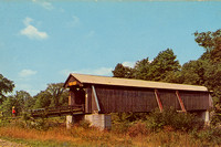 Vintage postcard of the Livingston Manor Covered Bridge, formerly known as the Mott Flats Bridge and more recently as the Vantran Bridge, that was originally built in 1860 by John Davidson.