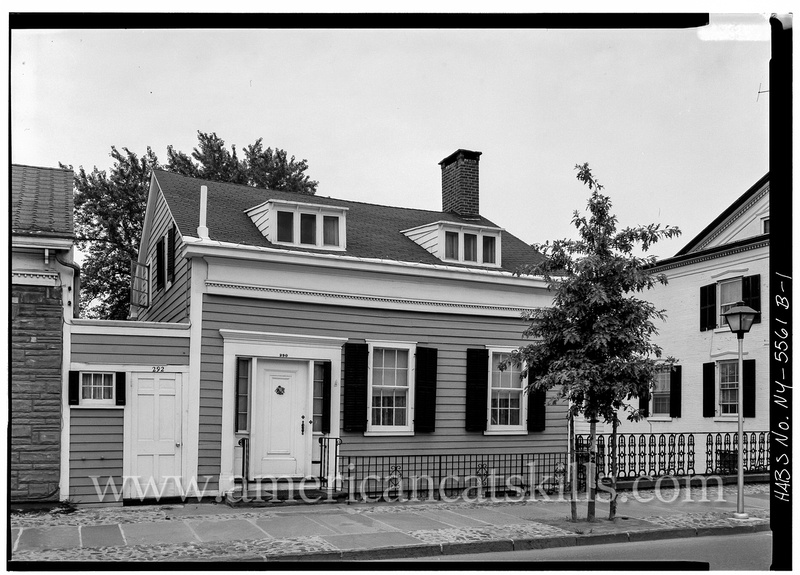 The Amelia Westbrook House located within the Stockade District of historic Kingston was built circa 1831 by Joseph Smith, owner of a nearby general store.