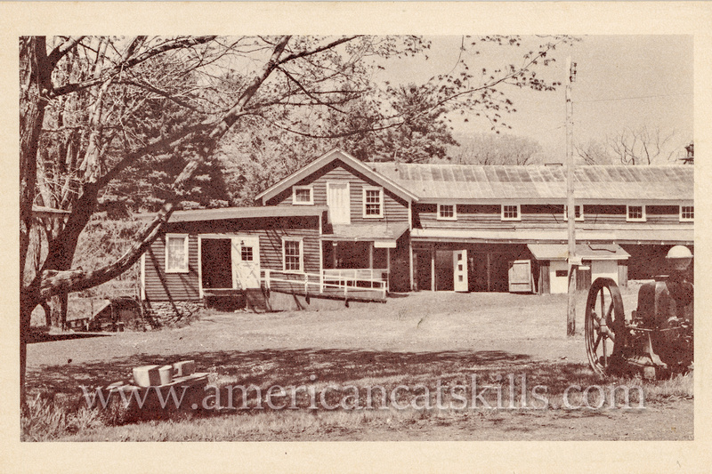Vintage postcard of the Hanford Mills museum, located on Kortright Creek in East Meredith, that offers numerous educational programs, exhibits, tours and more.