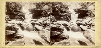 "Vintage E. Anthony stereoview # 402 titled ""Cascade in Kauterskill Clove, Near Haines Fall"" in ""The Glens of the Catskills"" series."