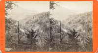 "Vintage E. & H. T. Anthony stereoview # 165 titled ""View from the Laurel House – Prospect Rock in the distance – Catskill Mts."" from ""The Artistic Series."""