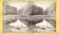 "Vintage E. & H. T. Anthony & Co. stereoview #167 titled ""The Notch from South Lake – Stony Clove – Catskill Mountains."" from ""The Artistic Series."""