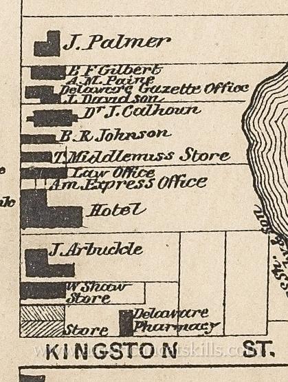 Map of B. R. Johnson Gallery, Delhi, NY