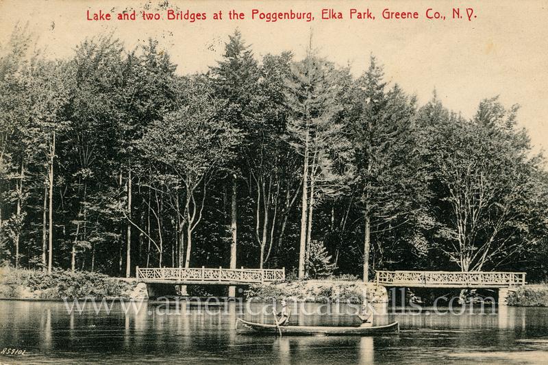 Lake and two Bridge at the Poggenburg, Elka Park, Greene Co., N.Y.