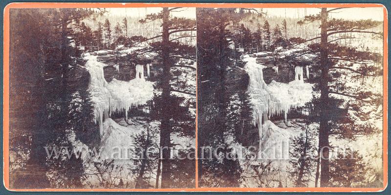Cauterskill Falls in winter by C. O. Bickelmann