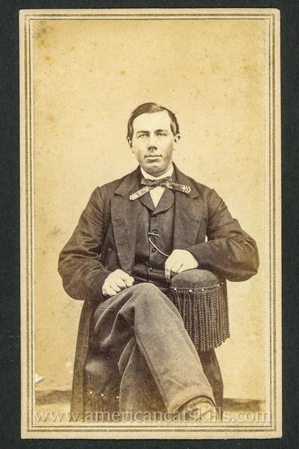 Portrait of unknown man by photographer Henry B. Aldrich