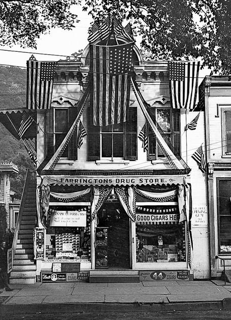 Farrington Drug Store, Main Street, Delhi, New York.