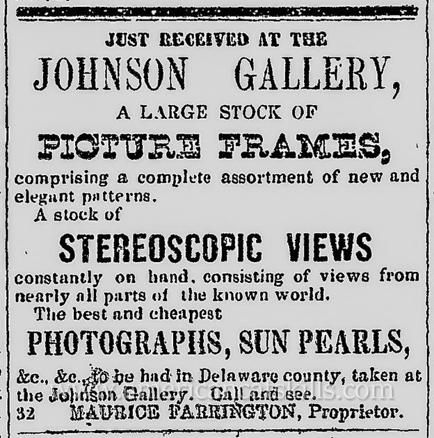 Maurice Farrington, Johnson Gallery advertisement.