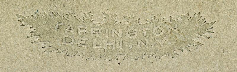 Logo for photographer Maurice Farrington of Delhi, New York