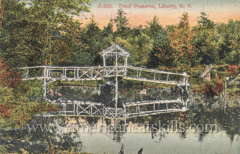 Famous photographer Otto Hillig photographed this beautiful scene at the Trout Preserve in Liberty, New York.