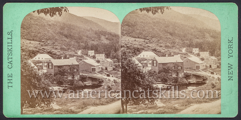 "Vintage John Jacob Loeffler stereoview titled ""Palensville"" from the ""Catskill Mountain Scenery"" series; First Series, # 226."