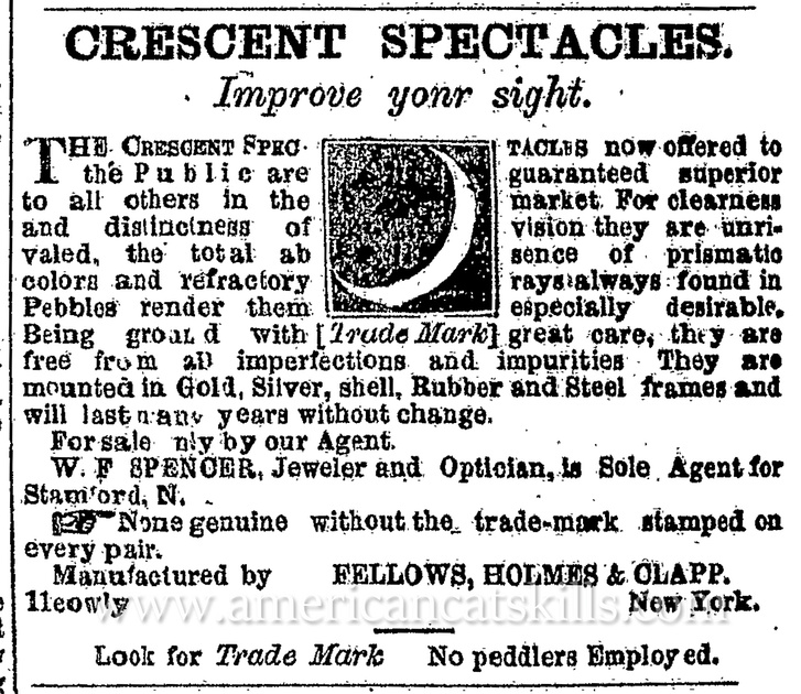 W. F. Spencer, 1874 advertisement