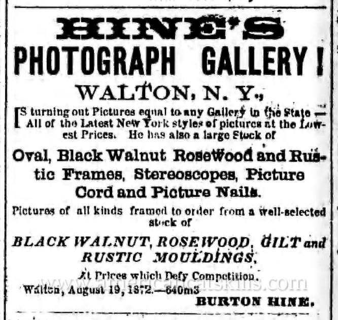 Hine's Photograph Gallery, Walton, NY