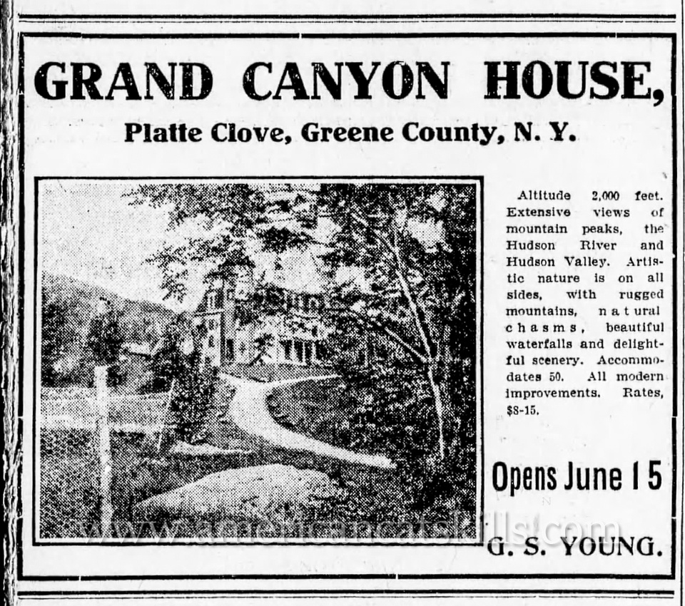 George S. Young was a talented photographer and boarding house owner in the rugged Devil's Kitchen and Platte Clove section of the northern Catskills.