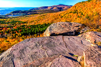 North Point offers wonderful views of the escarpment and North and South lakes, coupled with a backdrop of Kaaterskill High Peak (3,655 feet) and Roundtop (3,440 feet).