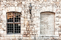 Old Fort Windows at the Royal Naval Dockyard in Bermuda.