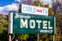 Antique Reservoir Motel sign located in Shokan, Ulster County, New York.