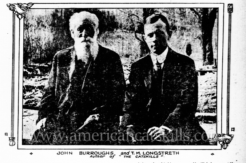 Noted authors John Burroughs and T. Morris Longstreth enjoying a quiet moment together.